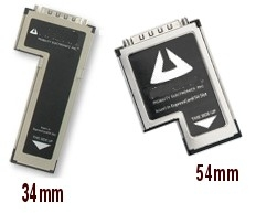 Expresscards 34 and 54mm